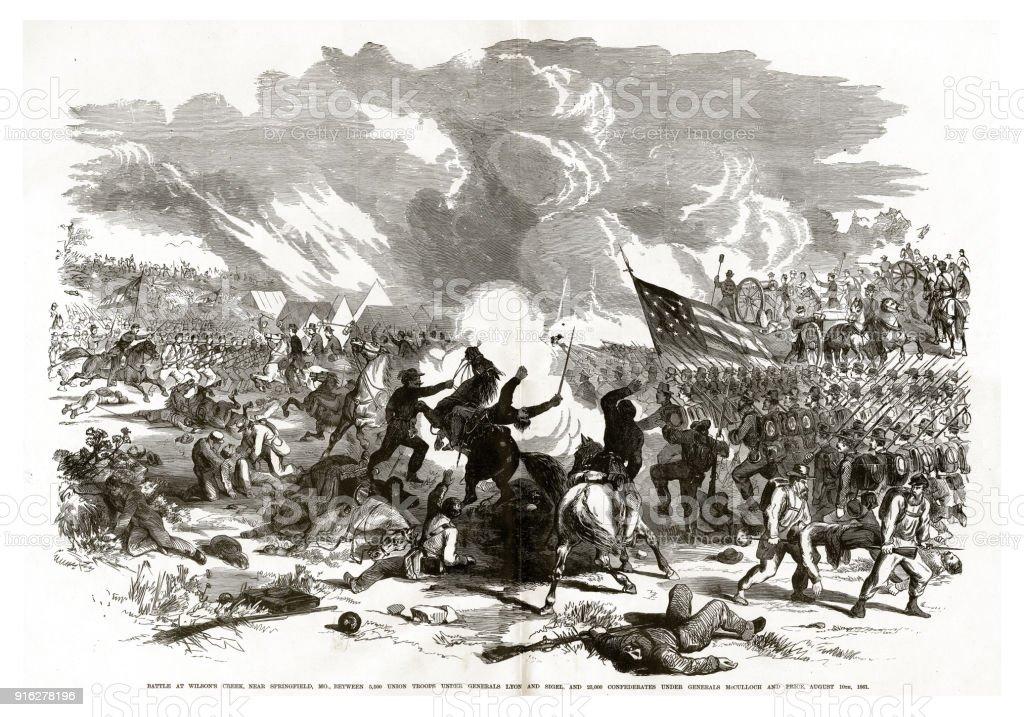 Battle Of Wilsons Creek Near Springfield Missouri August 10