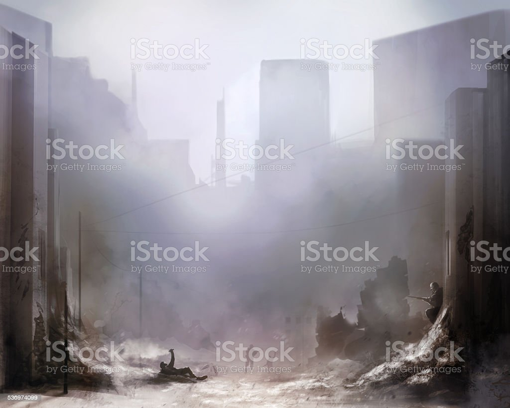 Battlefield art background vector art illustration