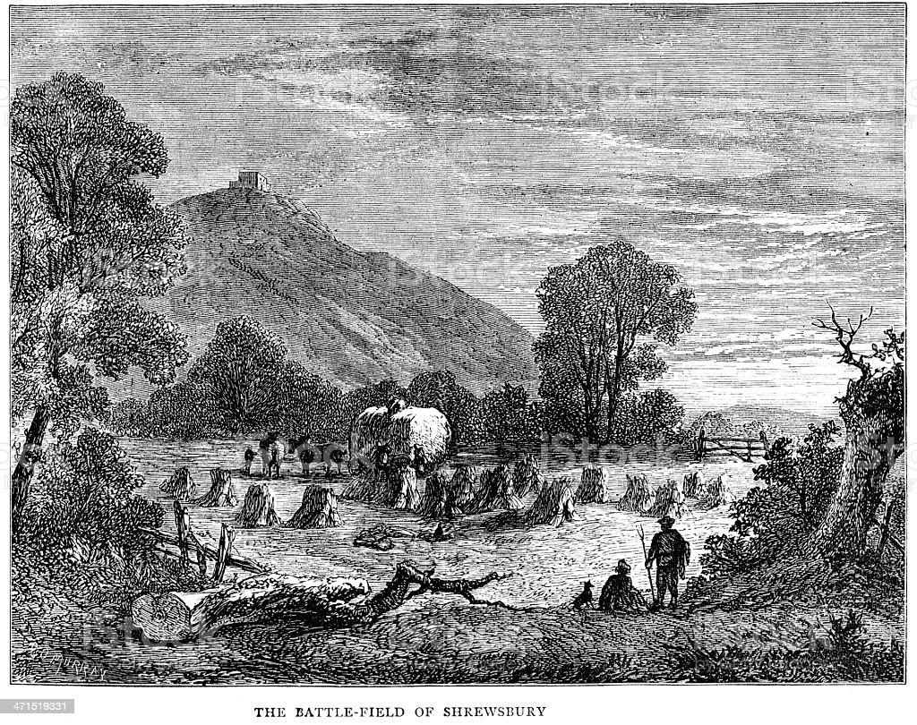 Battlefield of Shrewsbury royalty-free stock vector art