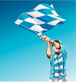 Bavaria Waving Flag Soccer Fan