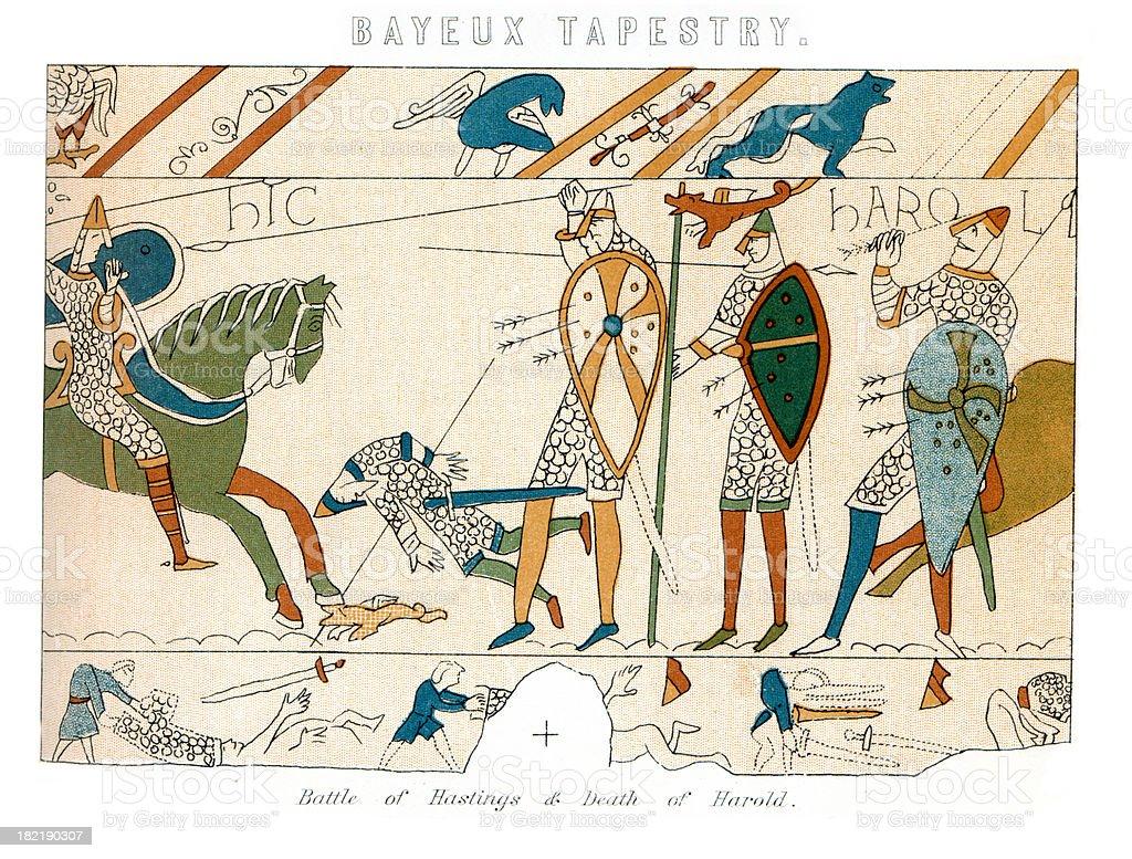 Tapisserie De Bayeuxbataille De Hastings Cliparts Vectoriels Et