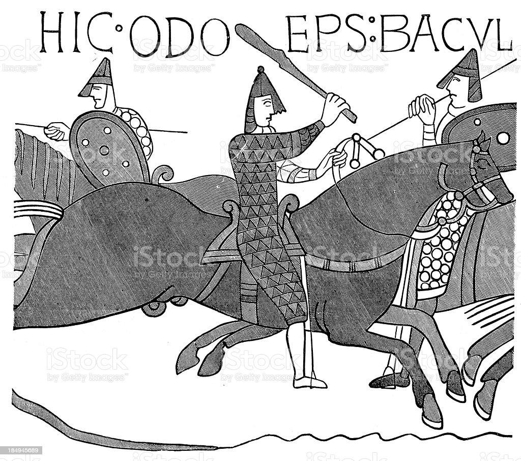 Bayeux Tapestry vector art illustration