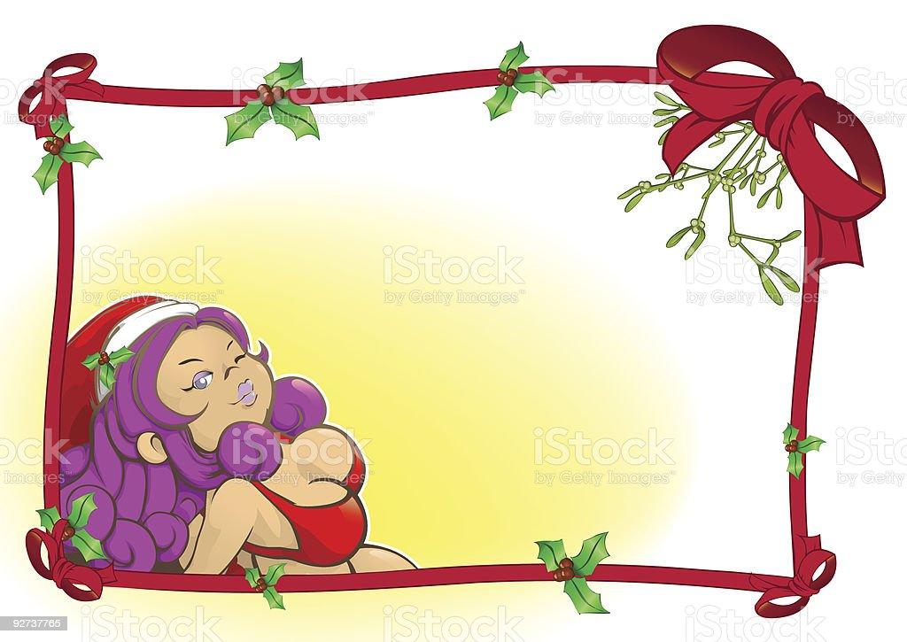 BBW-Weihnachtskarte Lizenzfreies bbwweihnachtskarte stock vektor art und mehr bilder von band