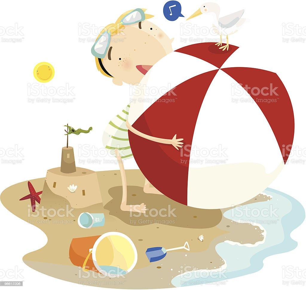 beach-Jungen - Lizenzfrei Badebekleidung Vektorgrafik