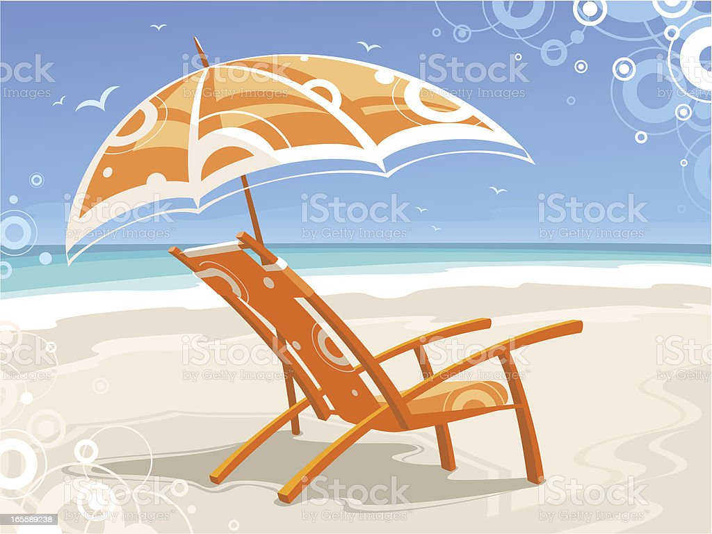 Beach chair royalty-free beach chair stock vector art & more images of backgrounds