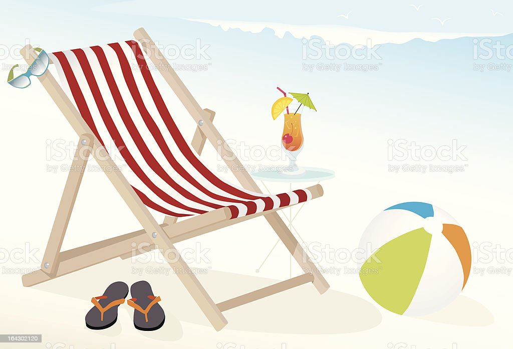 Beach Fun Icons vector art illustration