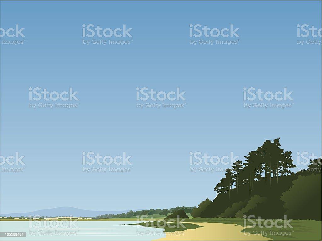 Beach landscape royalty-free stock vector art