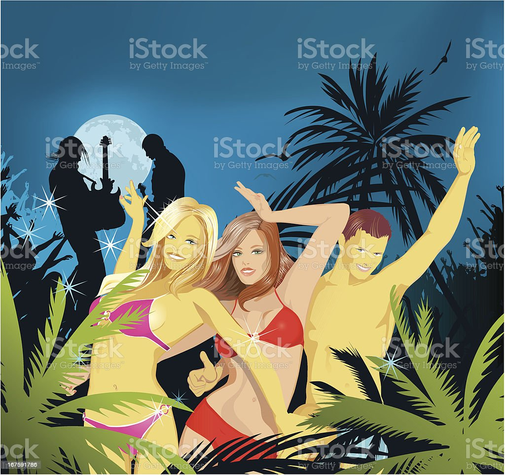 Beach Party 2 royalty-free stock vector art