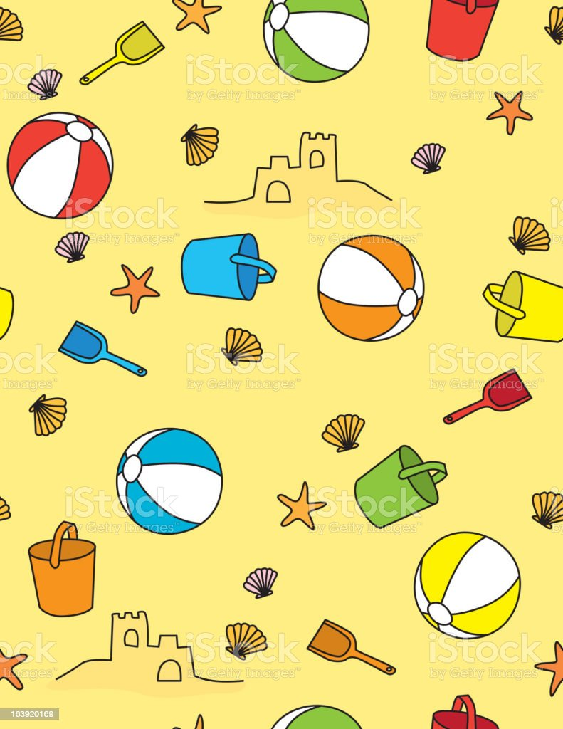 Beach pattern royalty-free stock vector art