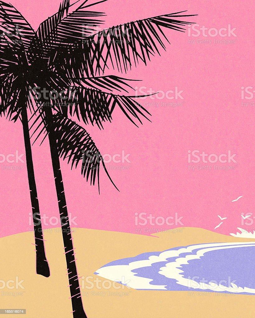 Beach Scene royalty-free stock vector art