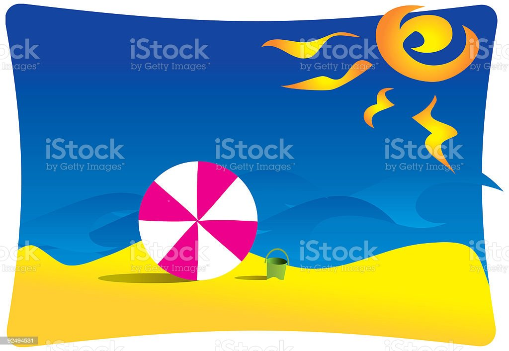 Beachlife sunny beach and waves royalty-free beachlife sunny beach and waves stock vector art & more images of beach