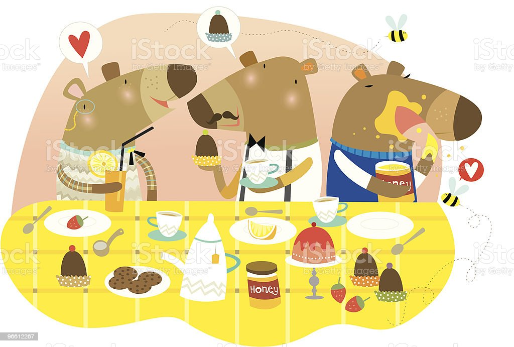 bearie tea - Royalty-free Animal Themes stock vector