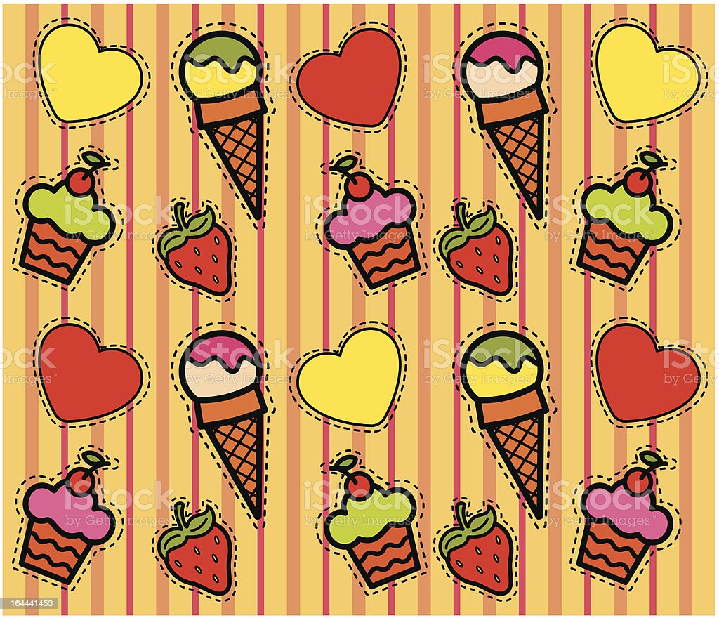 Beautiful background with a sweetness. Vector royalty-free stock vector art