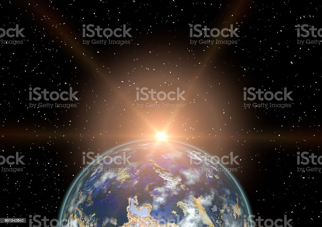 Beautiful Earth From Space Royalty Free Stock Vector Art Amp