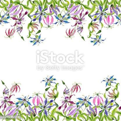 🔥 Imagen de Hermosa gloriosa flores en ramas de escalada sobre ...