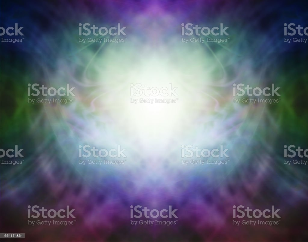 Beautiful Pranic Spiritual Energy Formation Background vector art illustration