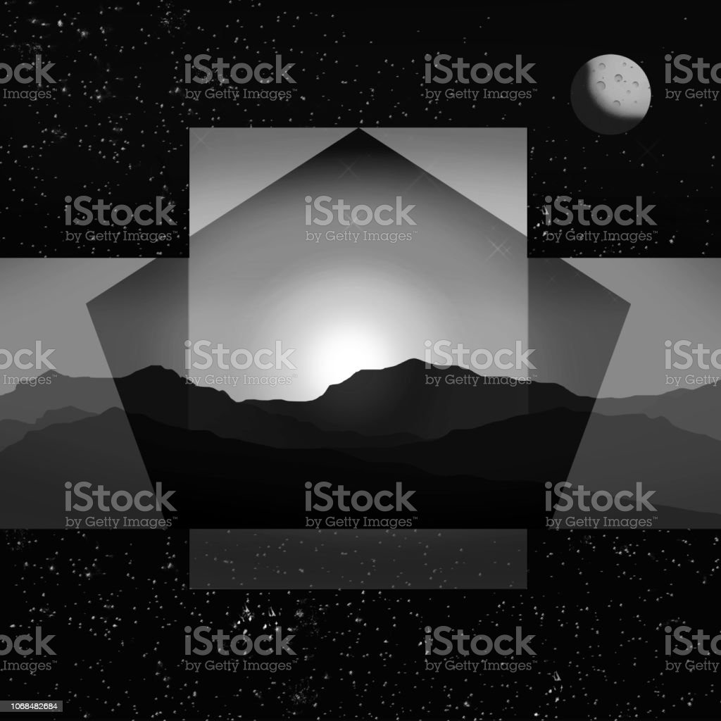 Beautiful Sunset Mountain And Space Stars Landscape Design Stock Illustration Download Image Now Istock,John F Kennedy Junior Young
