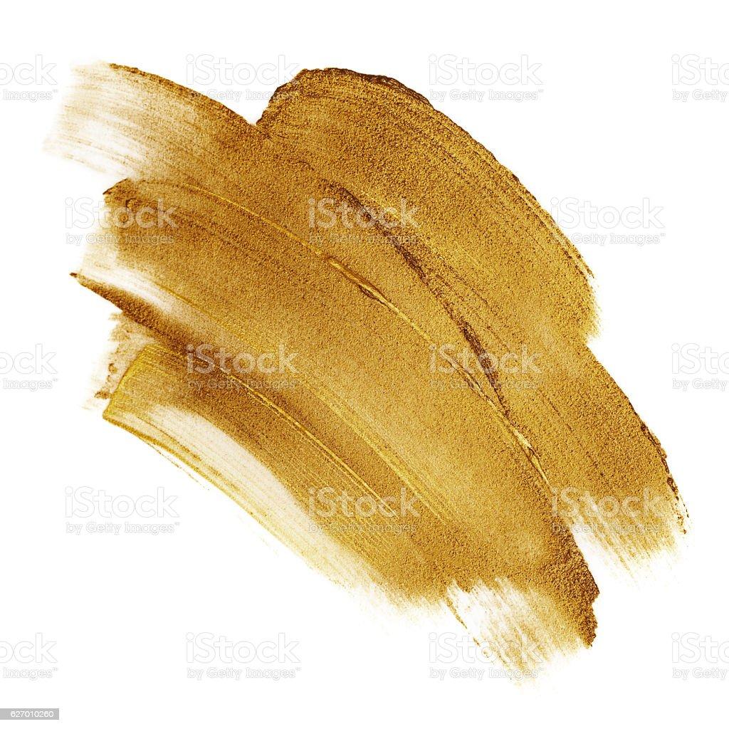 Beautiful textured dark golden strokes vector art illustration