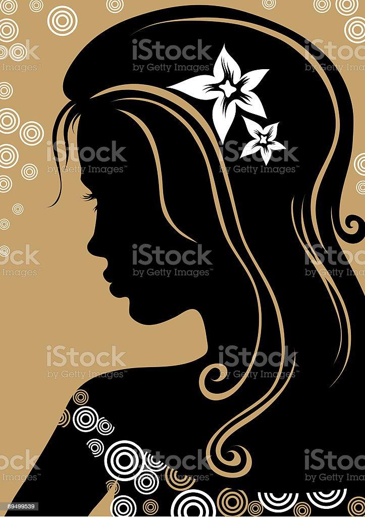 Piękna kobieta z Długie włosy piękna kobieta z długie włosy - stockowe grafiki wektorowe i więcej obrazów czarny royalty-free