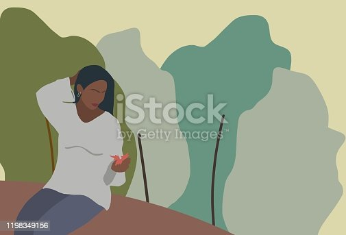 istock Beautiful women in nature 1198349156