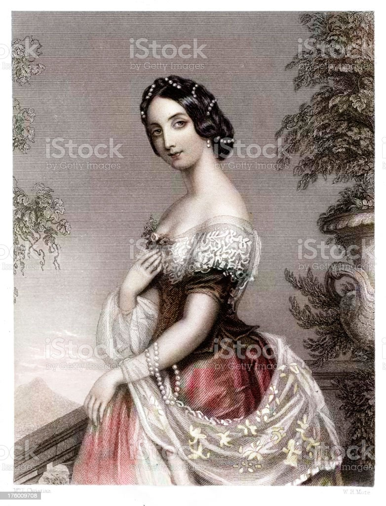 Beautiful Young Woman royalty-free beautiful young woman stock vector art & more images of 1830s style