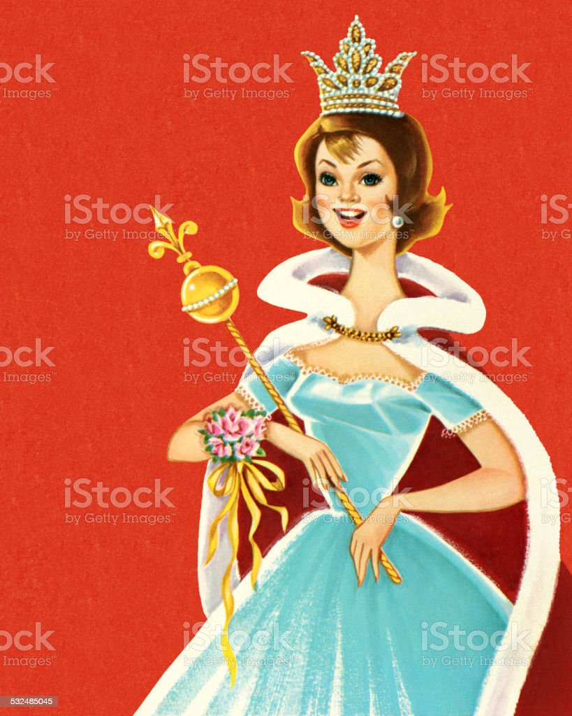 Beauty Pageant Queen vector art illustration