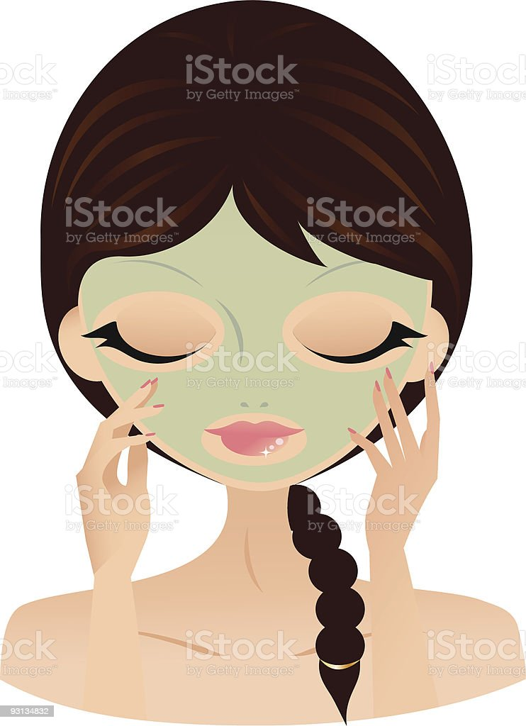 Tratamiento de belleza ilustración de tratamiento de belleza y más banco de imágenes de adulto libre de derechos