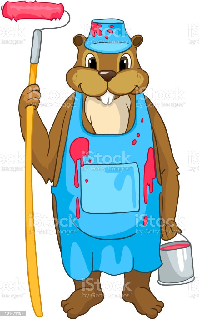 Beaver Cartoon royalty-free beaver cartoon stock vector art & more images of animal