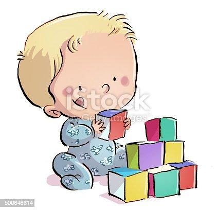 istock bebe jugando con juguetes 500648614