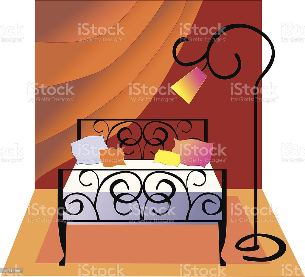 Bedroom royalty-free bedroom stock vector art & more images of bed