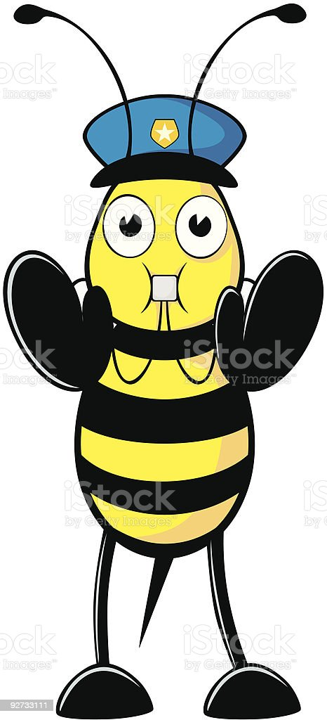 Bee a Whistle Blower vector art illustration