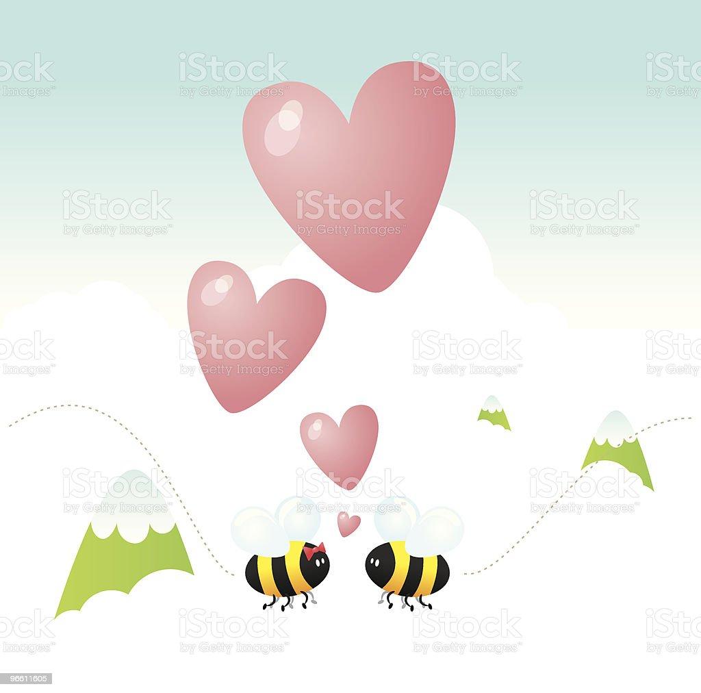 Bee my lover - Royaltyfri Berg vektorgrafik