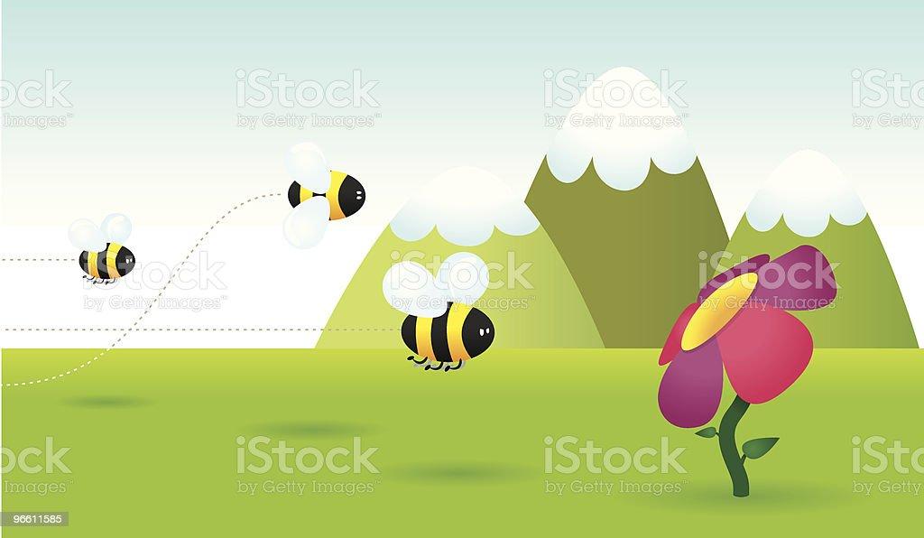 Bee race - Royaltyfri Berg vektorgrafik