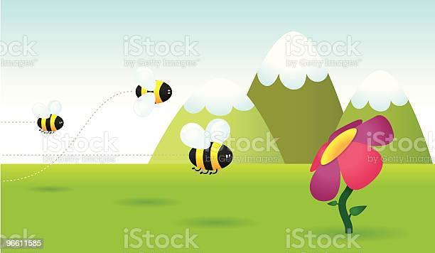 Bee Race-vektorgrafik och fler bilder på Berg