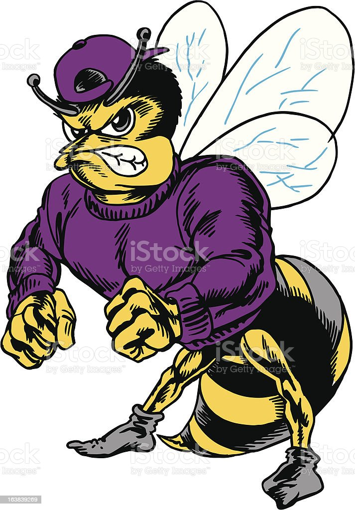 Bee Standing Tough royalty-free stock vector art