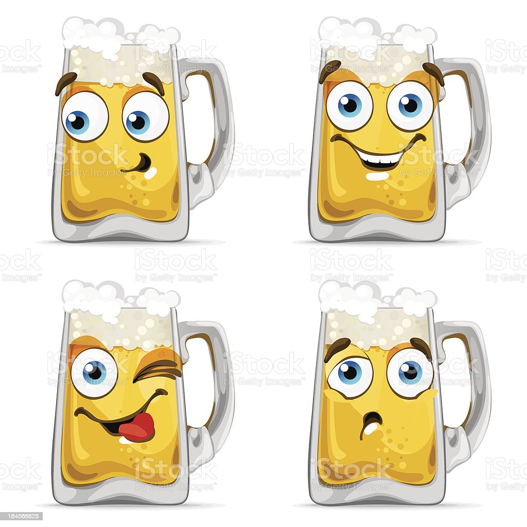 Beer Characters royalty-free stock vector art