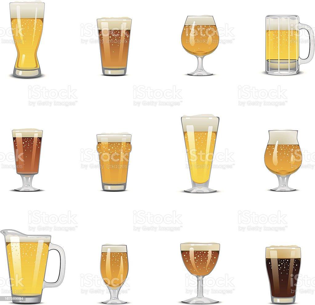 Icone di birra - illustrazione arte vettoriale