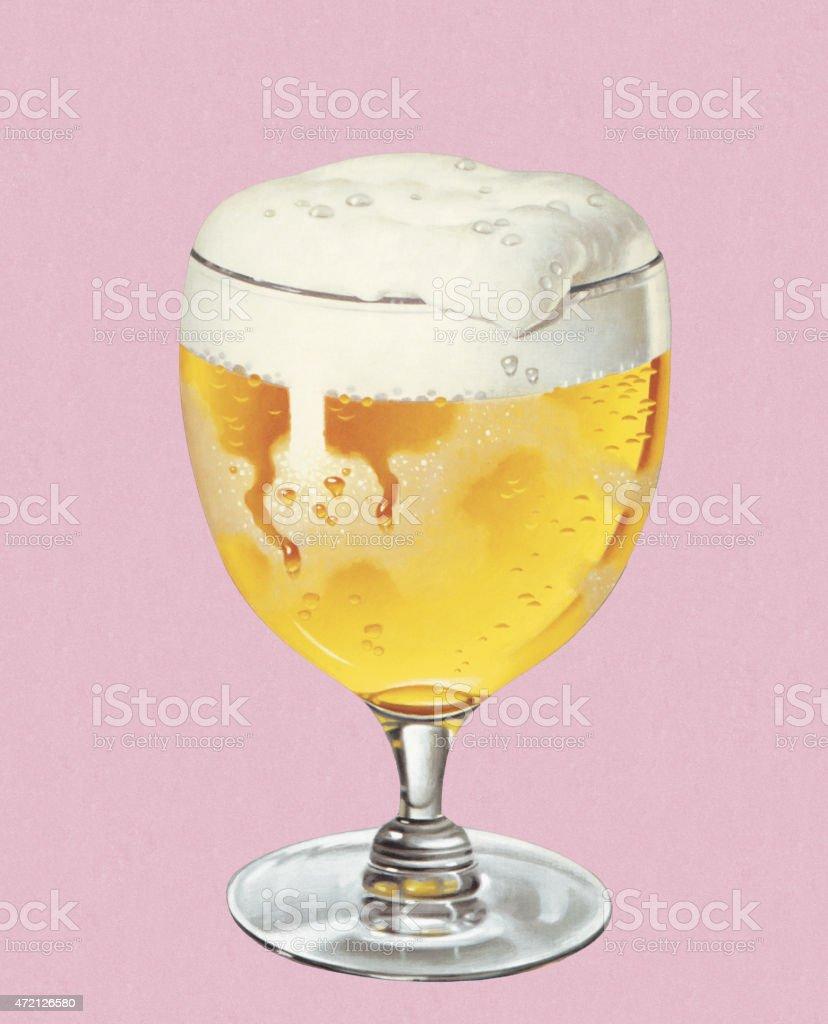 Beer in Goblet vector art illustration
