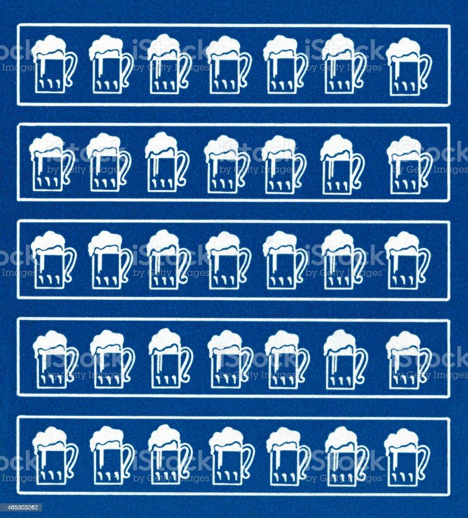 Beer pattern vector art illustration
