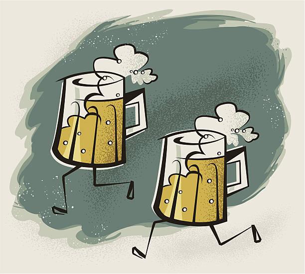 Beer Run vector art illustration