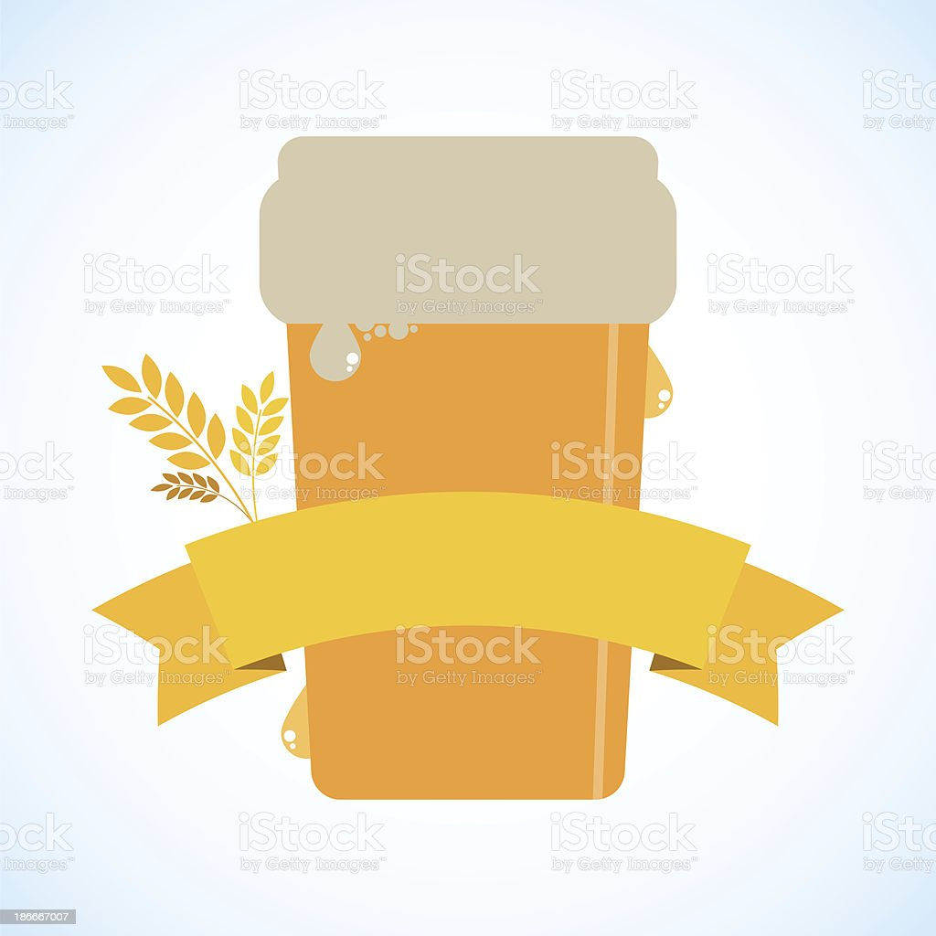 Beer with a banner - raster image royalty-free beer with a banner raster image stock vector art & more images of abstract