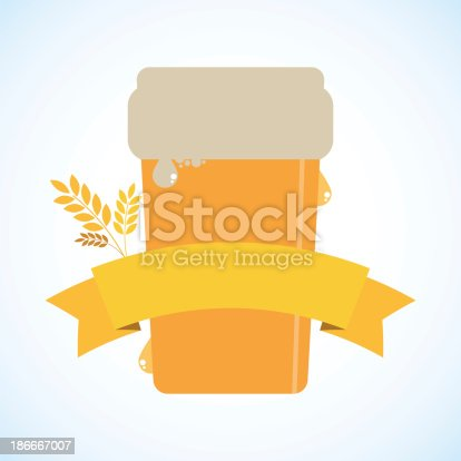 Beer with a banner - raster image