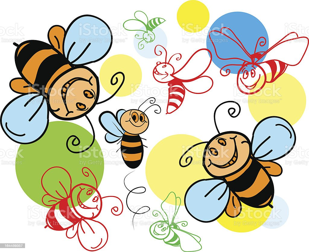 Bees Seamless . Pattern. Vector. royalty-free bees seamless pattern vector stock vector art & more images of animal