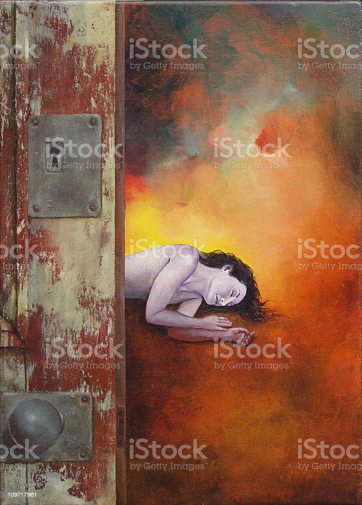 Behind Love's Door royalty-free stock vector art