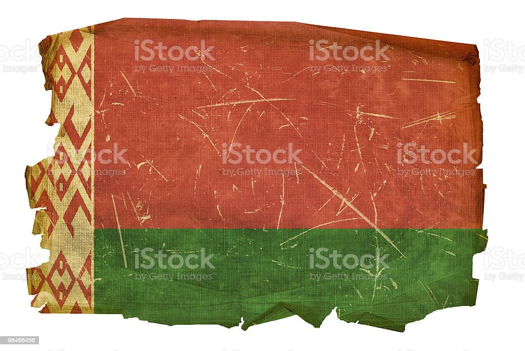 Belarus Flag old, isolated on white background. royalty-free belarus flag old isolated on white background stock vector art & more images of aging process