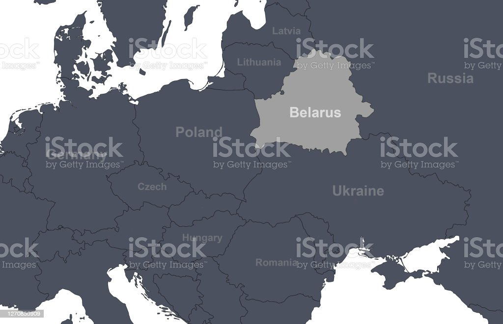 Picture of: Belarus On Europe Outline Map With Countries Borders Detail Of World Political Map Central And Eastern European Region Stock Illustration Download Image Now Istock