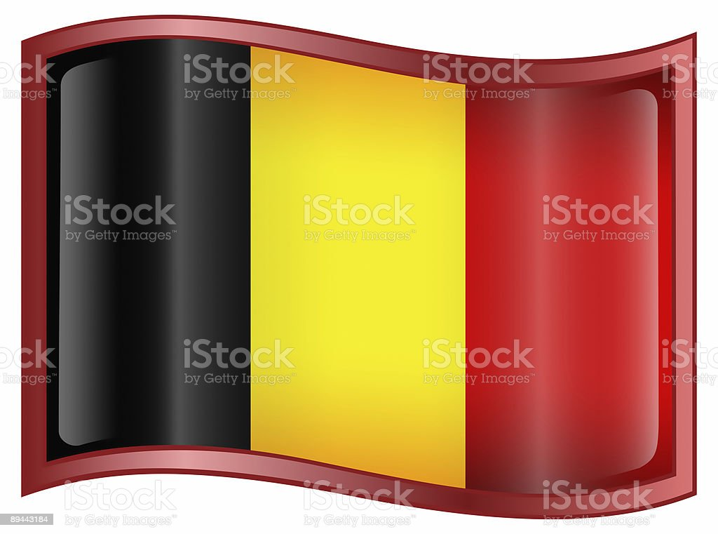 Belgium Flag icon, isolated on white background. royalty-free stock vector art