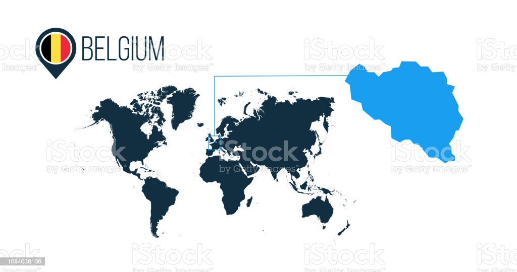 Belgium Location Modern Vector Map For Infographics All ...