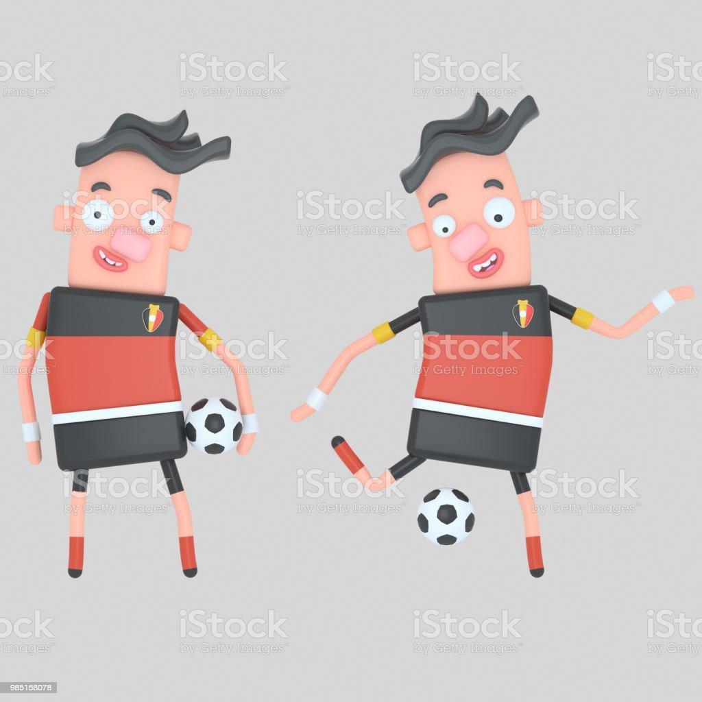 Bélgica jugador de fútbol - ilustración de arte vectorial