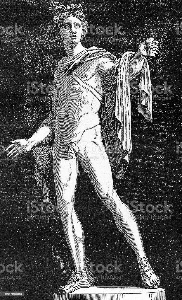 Belvedere's Apollo vector art illustration